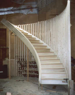 Using A Routed And Wedged Construction, Solid Materials, Squeak Blocks And  Mitered Return On Treads Are The Details That Make A Solid, Squeak Free  Stairway.
